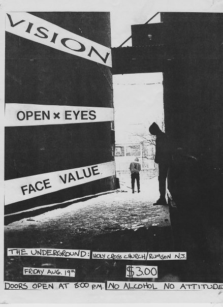 Vision-Open Eyes-Face Value @ Holy Cross Church Rumson NJ 8-19-88