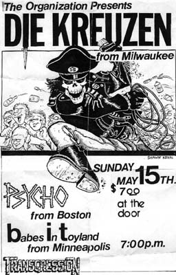 Die Kreuzen-Psycho-Babes In Toyland-Transgression @ Olivers Indianapolis IN 5-15-88