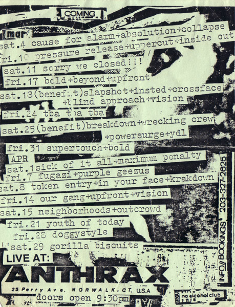 Anthrax Spring 1989
