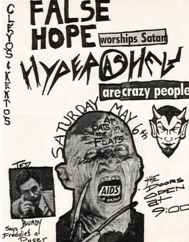 False Hope-Hyper As Hell @ Pat's In The Flats Cleveland OH 5-6-89