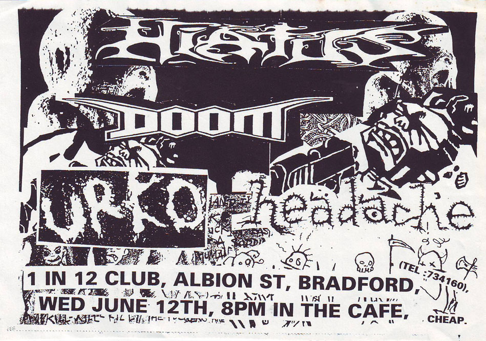 Hiatus-Doom-Urko-Headache @ 1 in 12 Club Bradford England 6-12-96