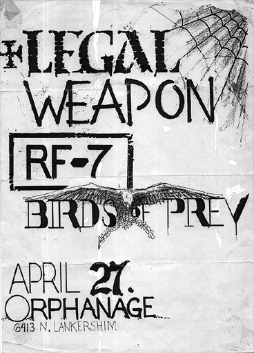 Legal Weapon-RF7-Birds of Prey @ Orphanage Los Angeles CA 4-27-83