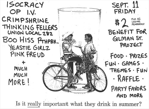 Isocracy-Operation Ivy-Chrimpshrine-etc @ Gilman St. Berkeley CA 9-11-87