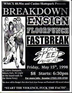 Breakdown-Ensign-Fastbreak-Floorpunch-Full Speed Ahead @ Casino Skate Park Asbury Park NJ 5-15-98