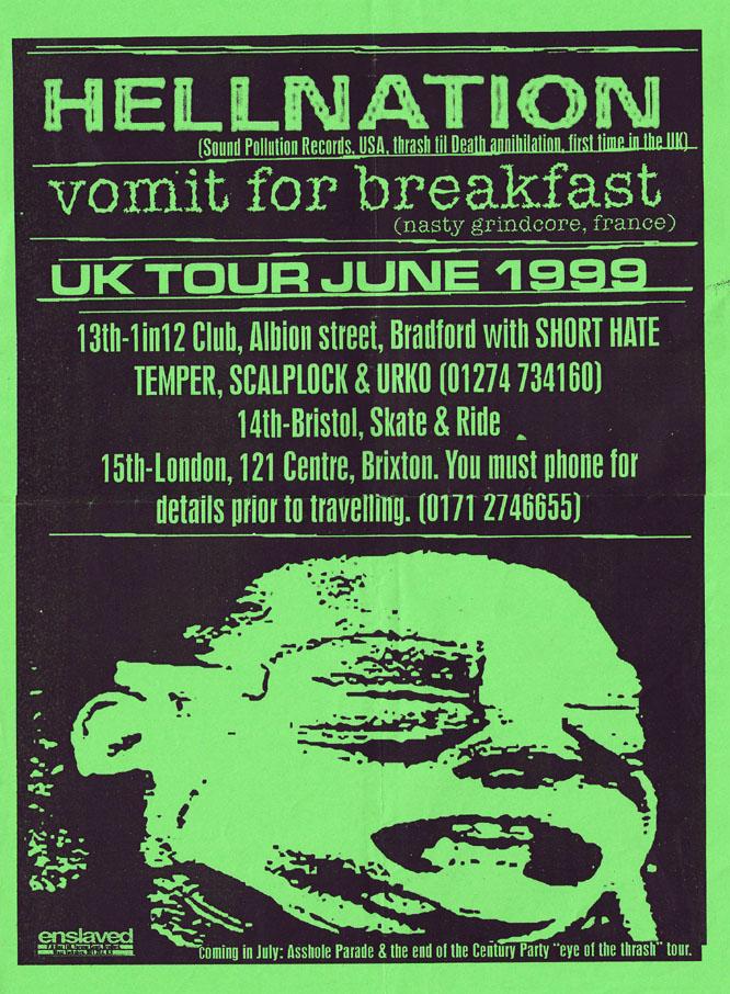 Hellnation UK Tour 1999