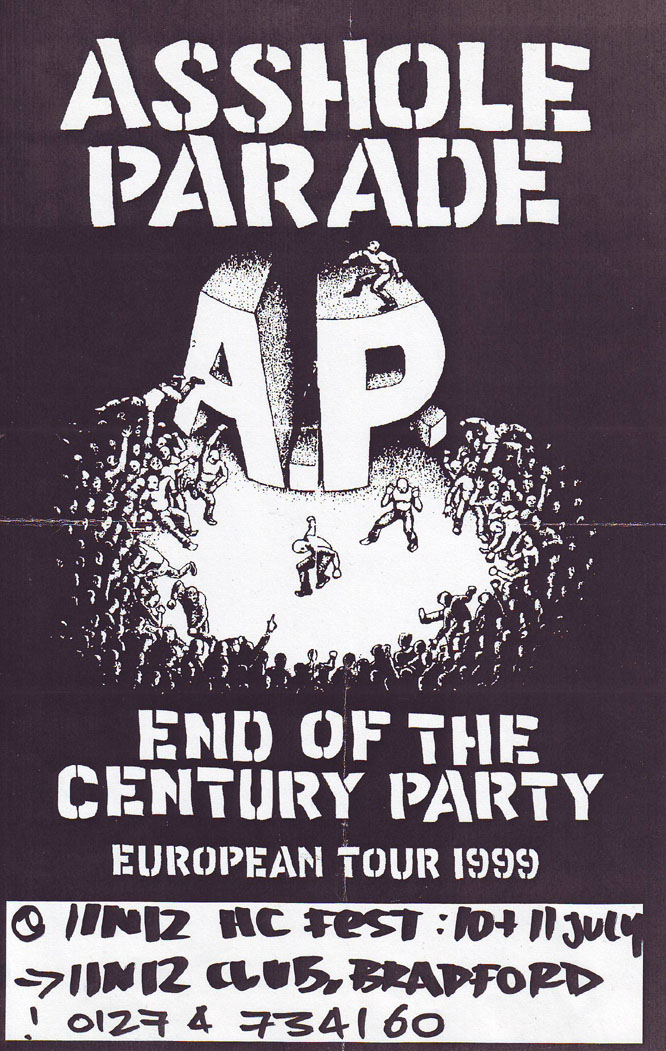 Asshole Parade-End of The Century Party @ 1 in 12 Club Bradford England 7-11-99