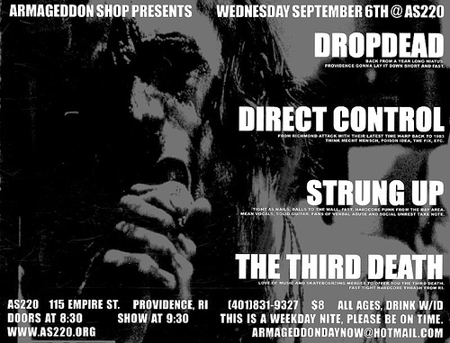 DropDead-Direct Control-Third Death-Strung Up @ AS220 Providence RI 9-6-06