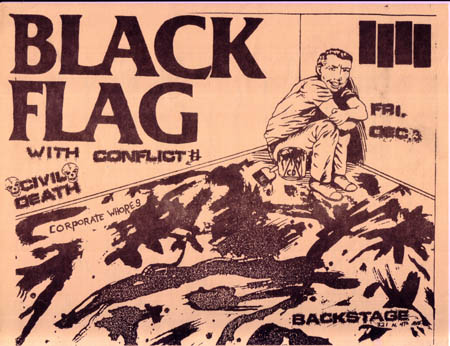 Black Flag-Conflict-Civil Death-Corporate Whores @ Backstage Tucson AZ 12-3-83