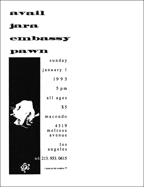 Avail-Jara-Embassy-Pawn @ Macondo Los Angeles CA 1-1-95