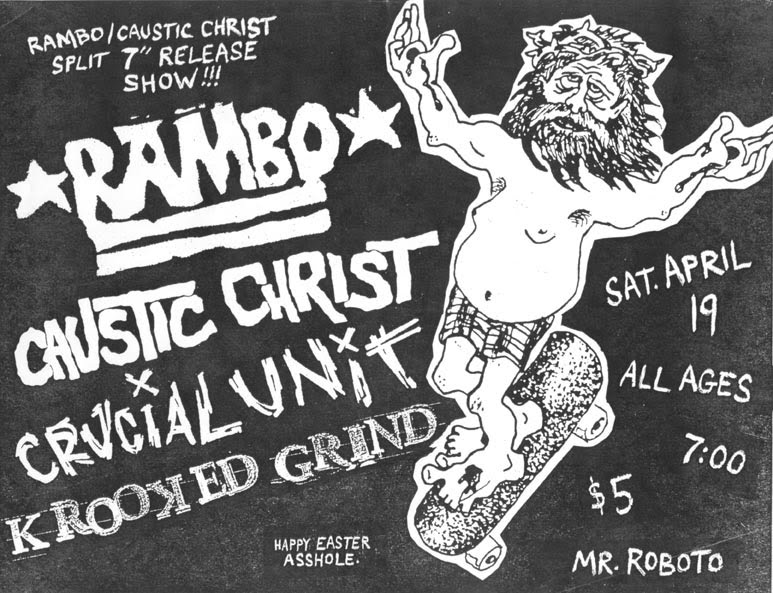 Rambo-Caustic Christ-Crucial Unit-Krooked Grind @ Mr. Roboto Project Pittsburgh PA 4-19-03