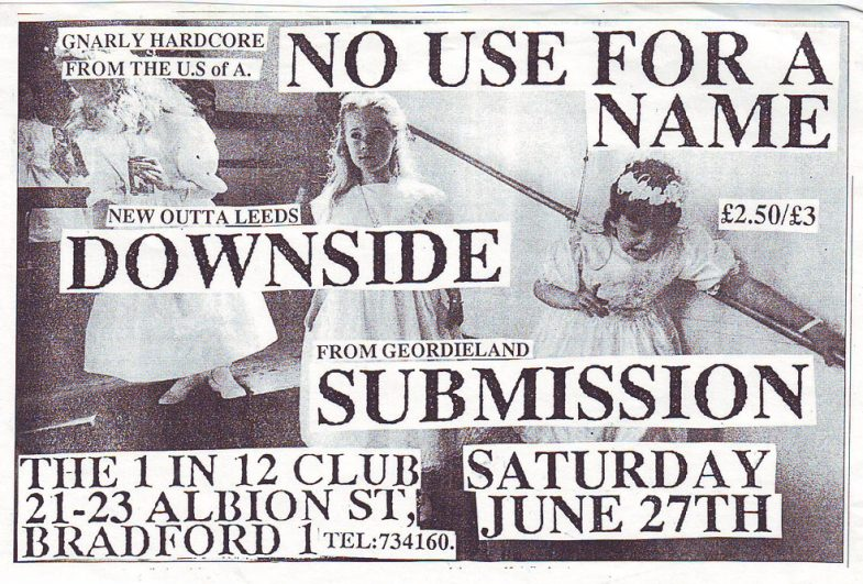 No Use For A Name-Downside-Submission @ 1 in 12 Club Bradford England 6-27-92