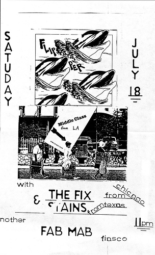 Flipper-Middle Class-The Fix-The Stains @ Fab Mab San Francisco CA 7-18-80