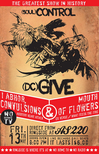 Soul Control-Give-I Abhor-Convulsions-Mouth Of Flowers @ AS220 Providence RI 5-13-11