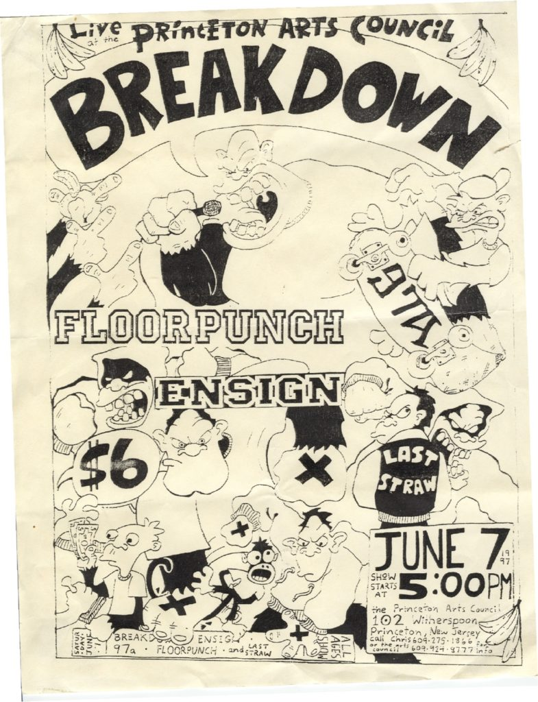 Breakdown-Floorpunch-Ensign-97a-Last Straw @ Princeton Arts Council Princeton NJ 6-7-97