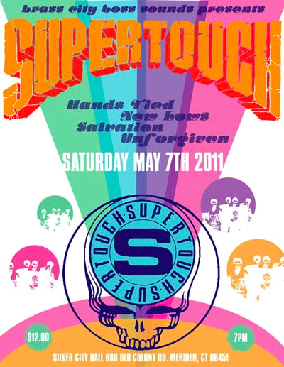 Supertouch-Hands Tied-New Lows-Salvation-Unforgiven @ Silver City Hall Meriden CT 5-7-11