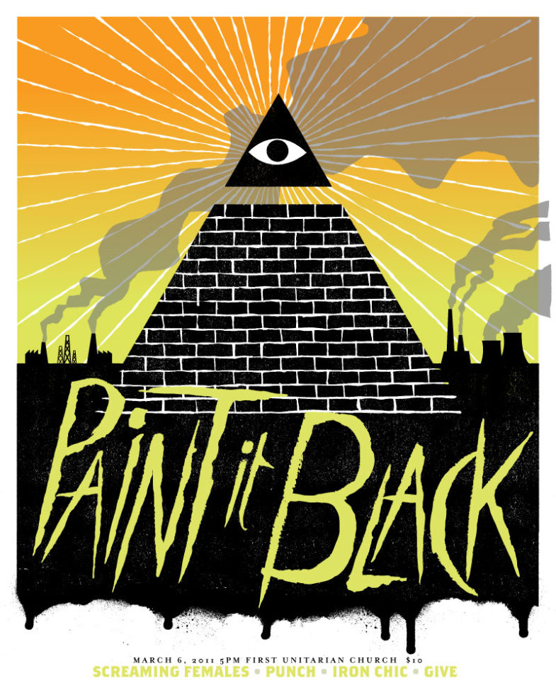 Paint It Black-Screaming Females-Punch-Iron Chic-Give @ First Unitarian Church Philadelphia PA 3-6-11