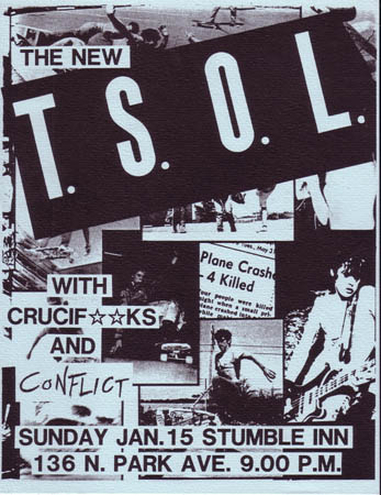 True Sounds Of Liberty-The Crucifucks-Conflict @ Stumble Inn Tucson AZ 1-15-84