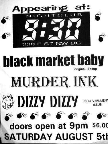Black Market Baby-Murder Ink-Dizzy Dizzy @ 930 Club Washington DC 8-5-95