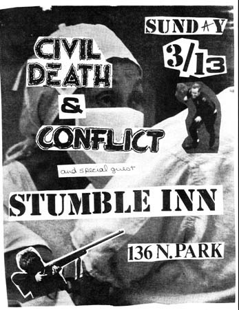 Civil Death-Conflict @ Stumble Inn Tucson AZ 3-13-83