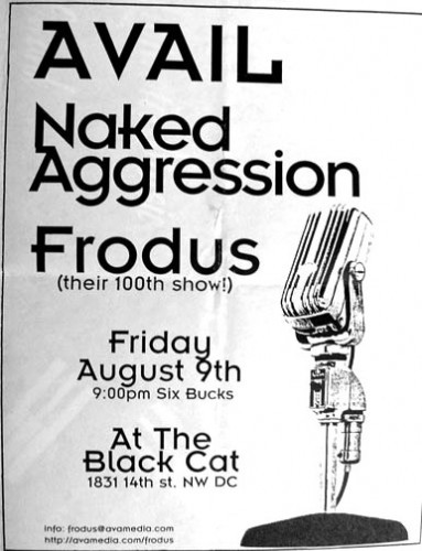 Avail-Naked Aggression-Frodus @ The Black Cat Washington DC 8-9-96