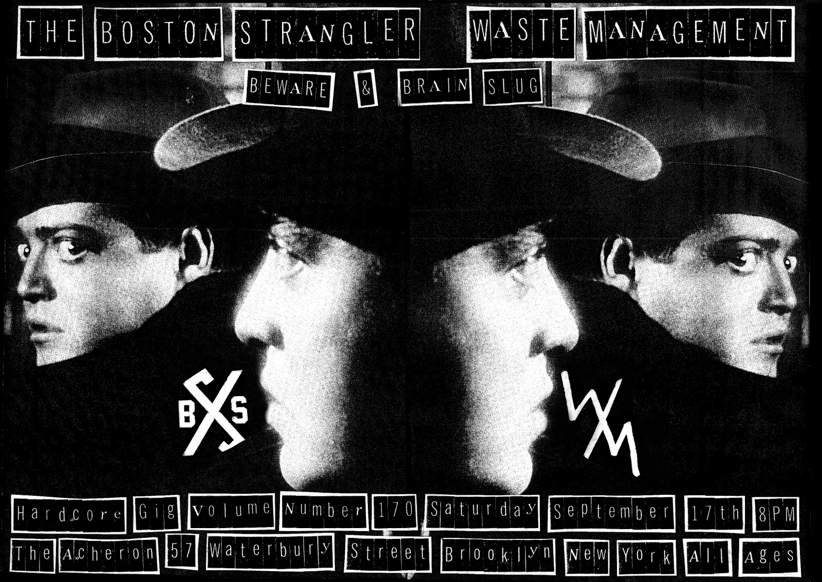 Boston Strangler-Waste Management-Beware-Brain Slug @ The Archeron Brooklyn NY 9-17-11