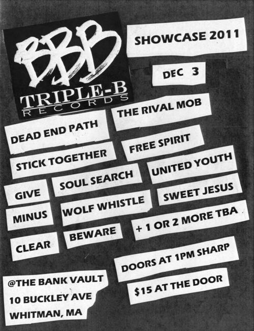 Triple BBB Records Showcase 2011