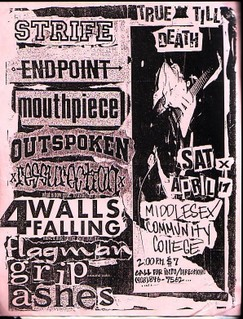 Strife-Endpoint-Mouthpiece-Outspoken-Ressurection-Four Walls Falling-Flagman-Grip-Ashes @ Middlesex County College Edison NJ 4-17-92