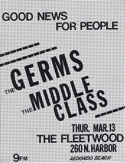 The Germs-Middle Class @ The Fleetwood Redondo Beach CA 3-13-80