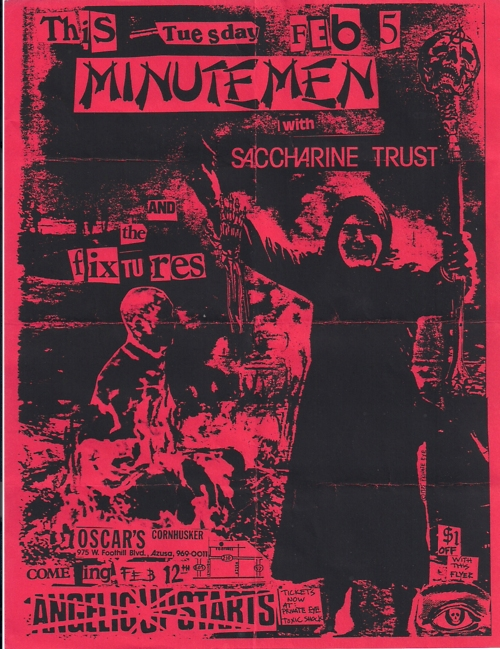 Minutemen-Saccharine Trust-The Fixtures @ Oscar's Atzusa CA 2-12-84