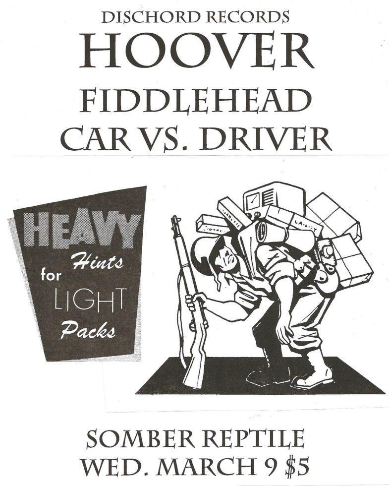 Hoover-Fiddlehead-Car Vs. Driver @ Somber Reptile Atlanta GA 3-9-94