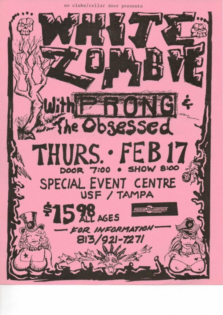 White Zombie-Prong-The Obsessed @ Special Event Centre Tampa FL 2-17-94