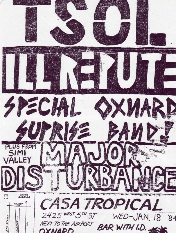 TSOL-Ill Repute-Major Disturbance @ Casa Tropical Oxnard CA 1-18-84