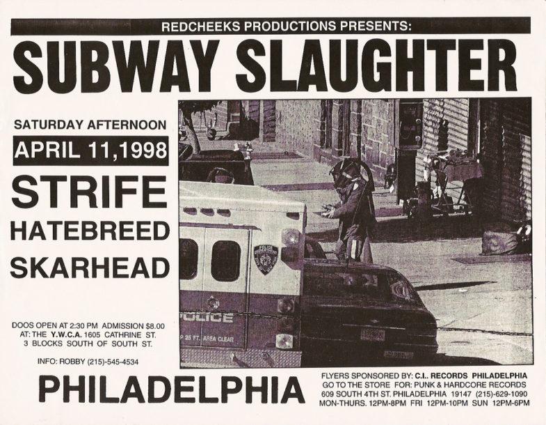 Strife-Hatebreed-Skarhead @ YWCA Philadelphia PA 4-11-98