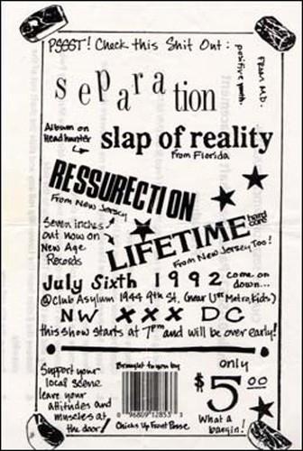 Separation-Slap Of Reality-Ressurection-Lifetime @ Club Asylum Washington DC 7-6-92