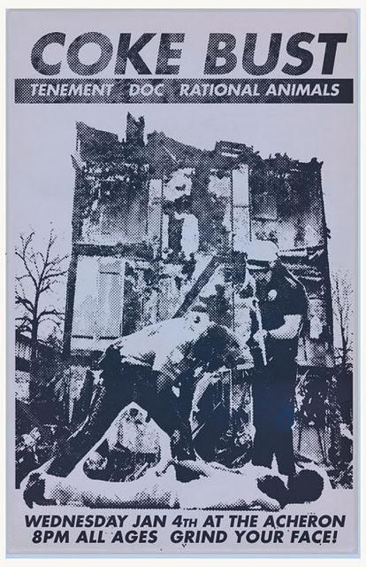 Coke Bust-Tenement-Doc-Rational Animals @ Archeron Brooklyn NY 1-4-12