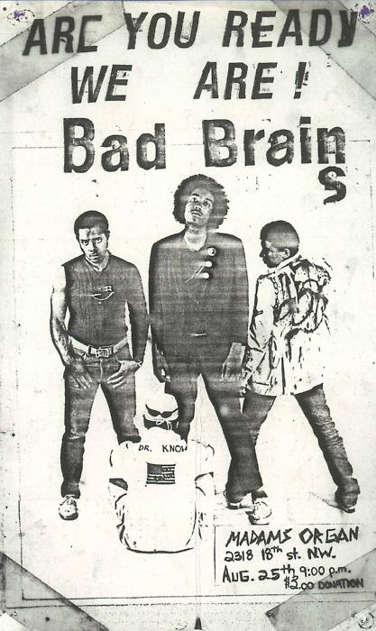 Bad Brains @ Madam's Organ Washington DC 8-25-79