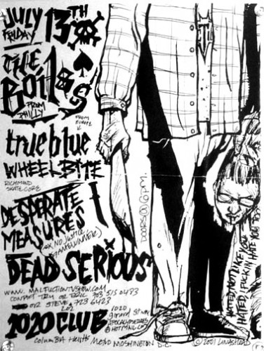 The Boils-True Blue-Wheelbite-Desperate Measures-Dead Serious @ 1020 Club Washington DC 7-13-01