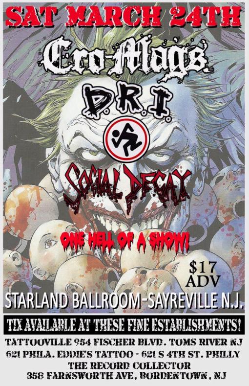 Cro Mags-DRI-Social Decay @ Starland Ballroom Sayreville NJ 3-24-12