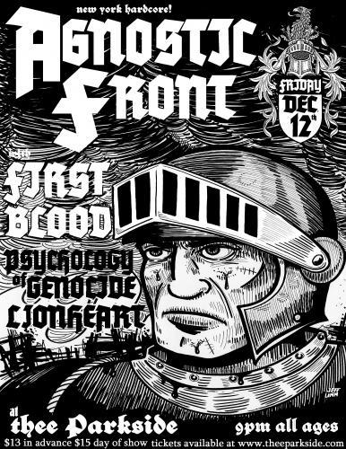 Agnostic Front-First Blood-Psychology Of Genocide-Lionheart @ The Parkside San Francisco CA 12-12-08