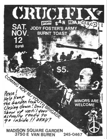 Crucifix-JFA-Burnt Toast @ Madison Square Garden Phoenix AZ 11-12-83