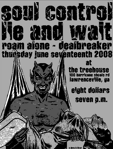 Soul Control-Lie & Wait-Roam Alone-Dealbreaker @ The Treehouse Lawrenceville GA 6-17-08