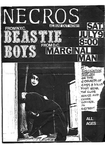 Necros-Beastie Boys-Marginal Man @ Fascination Station Detroit MI 7-9-83