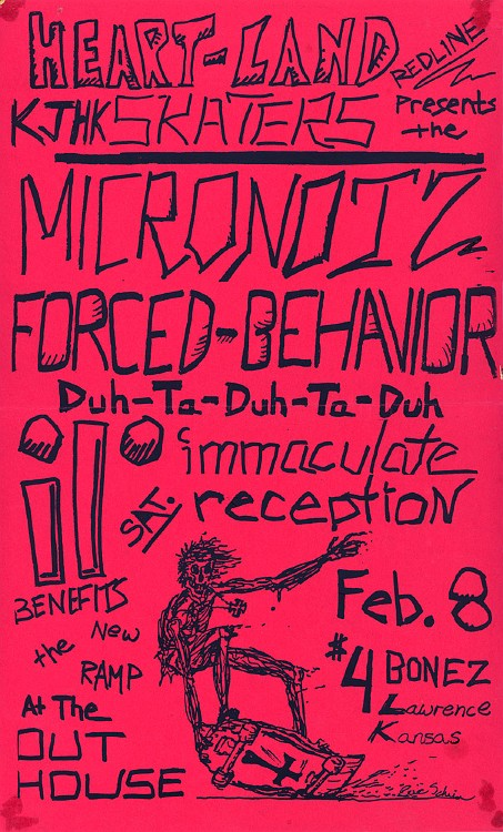 Mortal Micronotz-Forced Behavior-Immaculate Reception @ The Outhouse Lawrence KS 2-8-86