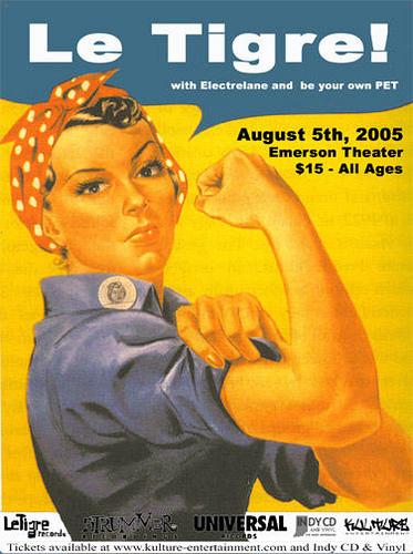 Le Tigre-Electrelane-Be Your Own Pet @ Emerson Theater Portland OR 8-5-05