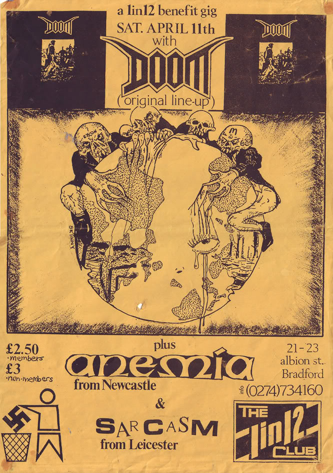 Doom-Amnesia-Sarcasm @ The 1 In 12 Club Bradford England 4-11-92