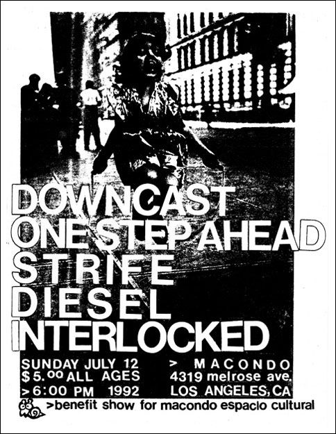 Downcast-One Step Ahead-Strife-Diesel-Interlocked @ Macondo Los Angeles CA 7-12-92