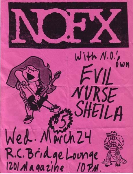 NOFX-Evil Nurse Shelia @ RC Bridge Lounge New Orleans LA 3-24-93