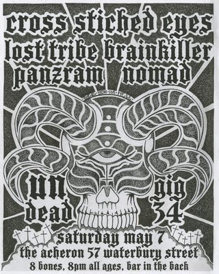 Cross Stiched Eyes-Lost Tribe-Brainkiller-Panzram-Nomad @ The Acheron Brooklyn NY 5-7-11