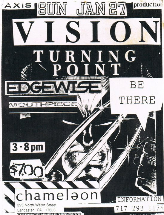 Vision-Turning Point-Edgewise-Mouthpiece @ Chameleon Lancaster PA 1-27-91