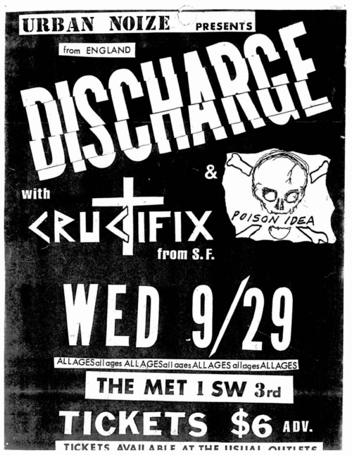 Discharge-Crucifix-Poison Idea @ The Met Washington DC 9-29-82